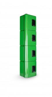 Borne recharge téléphone portable 4 casiers RFID - Devis sur Techni-Contact.com - 1