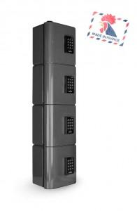Borne recharge téléphone portable 4 casiers RFID - Devis sur Techni-Contact.com - 2
