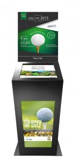 Borne tactile golf double affichage - Devis sur Techni-Contact.com - 1