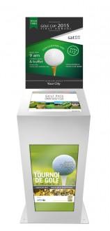 Borne tactile golf double affichage - Devis sur Techni-Contact.com - 2