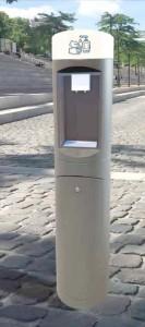 Borne extérieure à gel hydroalcoolique pour lieux publics - Devis sur Techni-Contact.com - 1