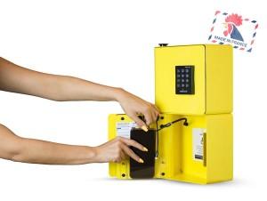 Bornes de recharge téléphone portables de 2 casiers à codes - Devis sur Techni-Contact.com - 1