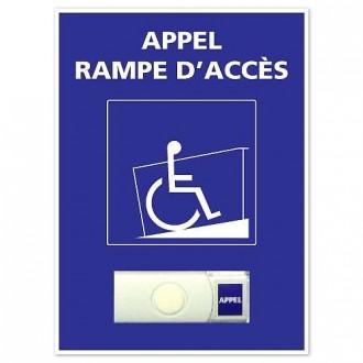 Bouton de sonnette PMR a image fauteuil roulant - Devis sur Techni-Contact.com - 1