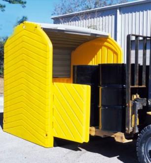 Box de stockage 4 fûts 284 L - Devis sur Techni-Contact.com - 1