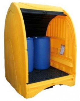 Box de stockage 4 fûts - Abri sécurisé - ouverture 2 côtés - Devis sur Techni-Contact.com - 1