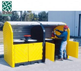 Box de stockage 4 fûts PEHD - Devis sur Techni-Contact.com - 1