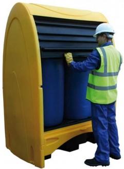 Box de stockage à rideaux pour fûts - Devis sur Techni-Contact.com - 2