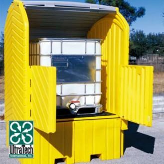 Box de stockage en pehd 1 transicuve avec rétention - Devis sur Techni-Contact.com - 1