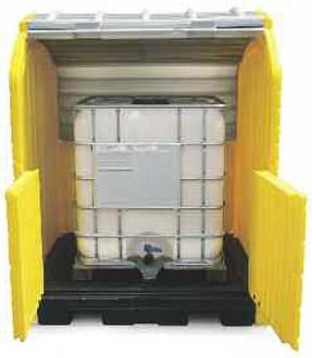 Box de stockage en pehd 1 transicuve avec rétention - Devis sur Techni-Contact.com - 2