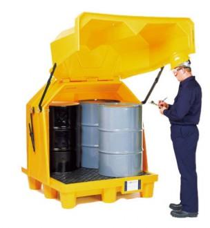 Box de stockage pour 4 fûts en PEHD - Devis sur Techni-Contact.com - 1