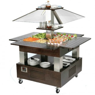 Buffet réfrigéré mobile 4 bacs - Devis sur Techni-Contact.com - 1