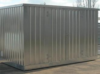 Bungalow conteneur stockage pour fûts 914 L - Devis sur Techni-Contact.com - 1