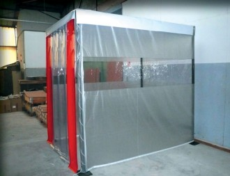 Cabine d'atelier souple modulaire - Devis sur Techni-Contact.com - 1