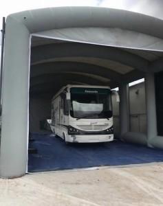 Cabine de peinture gonflable poids lourd et bus - Devis sur Techni-Contact.com - 2