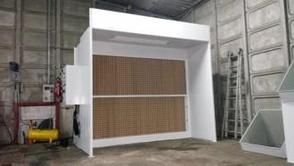 Cabine de peinture ouverte à filtre sec - Devis sur Techni-Contact.com - 3