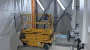 Cabine peinture rétractable démontable industrielle - Devis sur Techni-Contact.com - 1