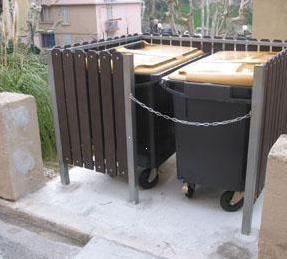 Cache conteneur poubelle plastique - Devis sur Techni-Contact.com - 1