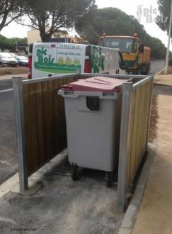 Cache poubelle bois sur-mesure - Devis sur Techni-Contact.com - 3