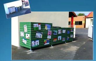 Cache poubelle décoré - Devis sur Techni-Contact.com - 1