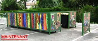 Cache poubelle décoré - Devis sur Techni-Contact.com - 3