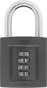 Cadenas à combinaison interchangeable à 4 molettes pour porte - Devis sur Techni-Contact.com - 1
