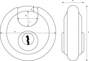Cadenas haute sécurité inox diamètre anse 10 mm - Devis sur Techni-Contact.com - 5