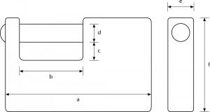 Cadenas monobloc avec gaine en acier. - Devis sur Techni-Contact.com - 5