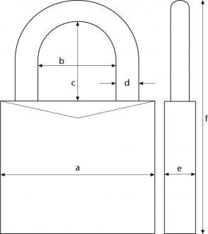Cadenas sécurité pour porte diamètre anse 11 mm - Devis sur Techni-Contact.com - 2