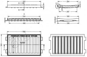 Cadre grille et concave en fonte - Devis sur Techni-Contact.com - 2