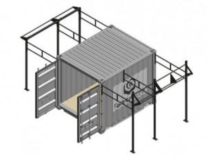 Cage container crossfit gym 2 Rigs outdoor - Devis sur Techni-Contact.com - 1