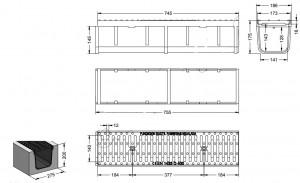 Caniveau avec grille en fonte ductile - Devis sur Techni-Contact.com - 2