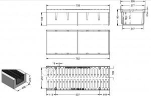 Caniveau avec sa grille en fonte ductile - Devis sur Techni-Contact.com - 2