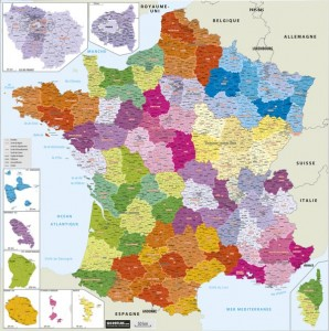 Carte de France administrative - Devis sur Techni-Contact.com - 1