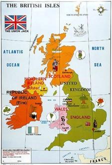 Carte des îles britaniques - Devis sur Techni-Contact.com - 2