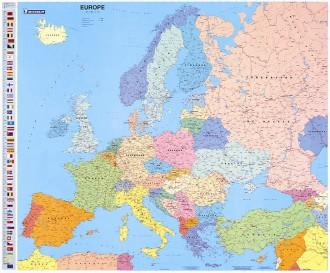 Carte géographique d'Europe - Devis sur Techni-Contact.com - 1