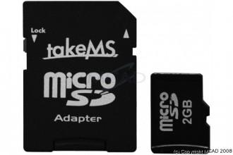 Carte mémoire Micro SD 2GO adaptateur - Devis sur Techni-Contact.com - 1