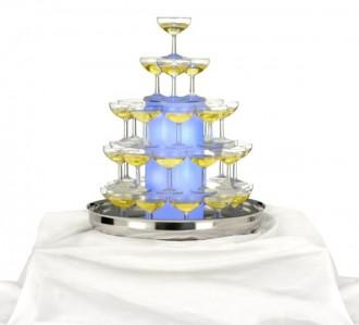 Cascade à champagne illuminée - Devis sur Techni-Contact.com - 1