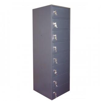 Casier 8 portes H 1130 mm - Devis sur Techni-Contact.com - 1