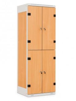 Casier vestiaire monobloc bois acier - Devis sur Techni-Contact.com - 1