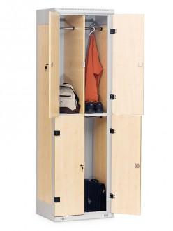 Casier vestiaire monobloc bois acier - Devis sur Techni-Contact.com - 2