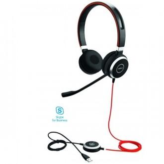 Casque téléphonique Jabra Evolve 40 USB UC MS Duo - Devis sur Techni-Contact.com - 1