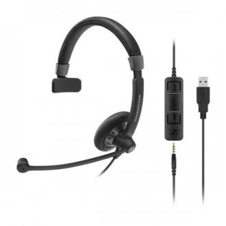 Casque téléphonique Sennheiser SC45 USB UC Mono - Devis sur Techni-Contact.com - 1