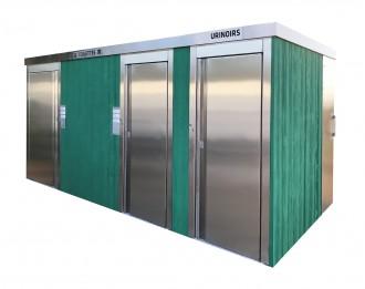 Cellule sanitaire 3 cabines - Devis sur Techni-Contact.com - 1