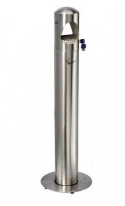 Cendrier 4 litres avec bac intérieur inox - Devis sur Techni-Contact.com - 1