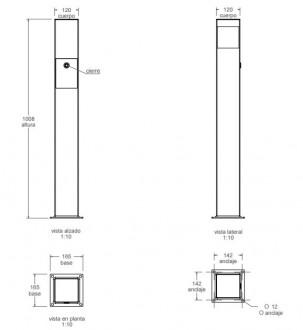 Cendrier sur pied d'extérieur - Devis sur Techni-Contact.com - 2