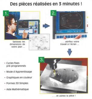 Centre d'usinage vertical axes conversationnelle - Devis sur Techni-Contact.com - 2