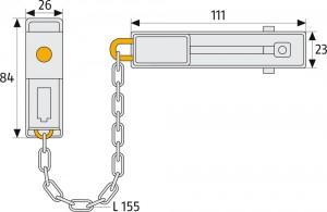 Chaîne de porte à clé - Devis sur Techni-Contact.com - 4