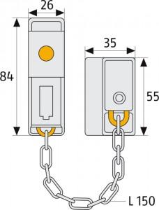 Chaîne de porte Longueur 155 mm - Devis sur Techni-Contact.com - 5