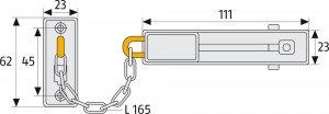 Chaîne de porte Longueur 170 mm - Devis sur Techni-Contact.com - 5