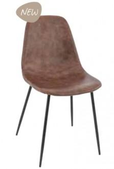 Chaise à coque en bois garnie similicuir - Devis sur Techni-Contact.com - 1